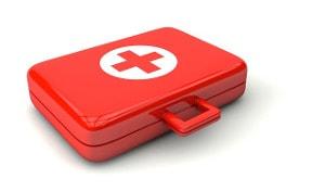Ertse-Hilfe-Kiste für die Stallapotheke